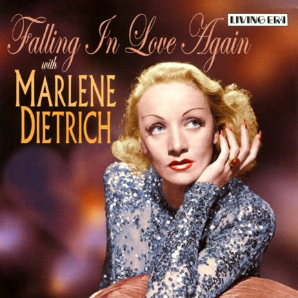 CD cover of 'Falling In Love Again' by Marlene Dietrich