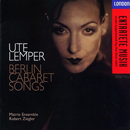 CD cover of 'Berlin Cabaret Songs - German' by Ute Lemper