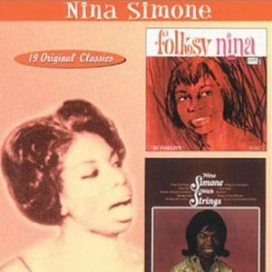 CD cover of Nina Simone - Folksy Nina / With Strings