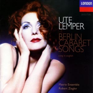 CD cover of Ute Lemper - Berlin Cabaret Songs - English
