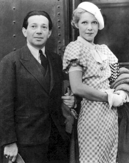 Photo of Frederick Hollander and his second wife, Hedi Schoop