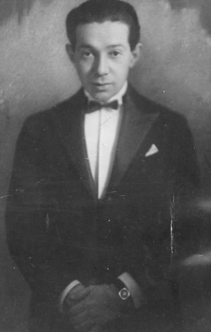 Photo of young Frederick Hollander in tux