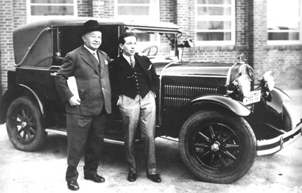 Photo of Victor Hollaender with son Frederick Hollander
