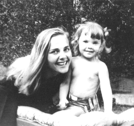 Photo of third wife Leza and daughter Melodie Hollander