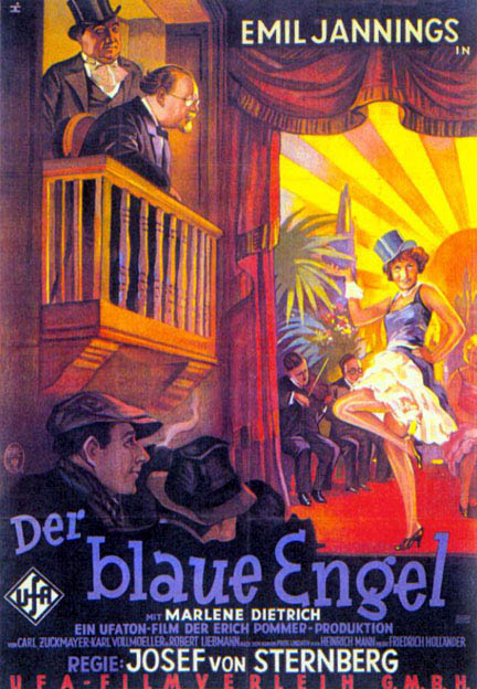 Original poster for the film 'Der blaue Engel'