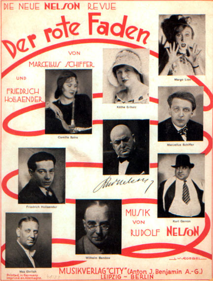 Sheet music for the revue 'Der rote Faden.'