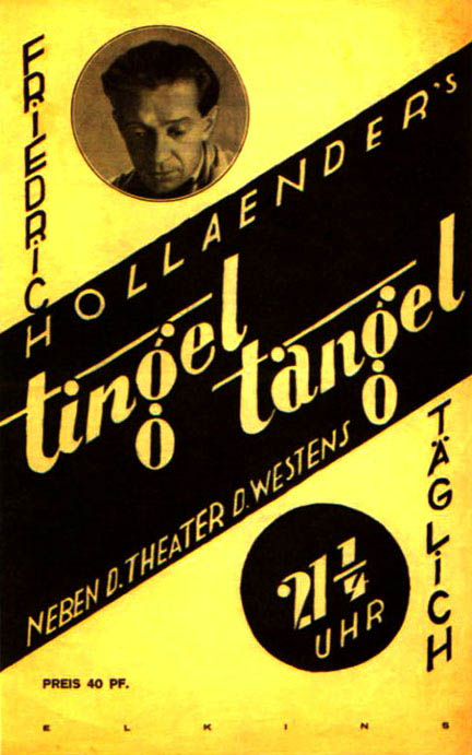 Posters for the 'Tingel Tangel Theatre'