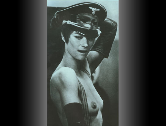 Charlotte Rampling sings 'Wenn ich mir was w�nschen d�rfte' in the movie 'Night Porter'